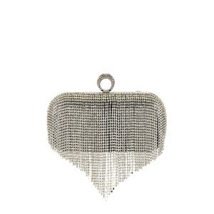 Ettika CZ Fringe Crystal Fringe Clasp Clutch Bag